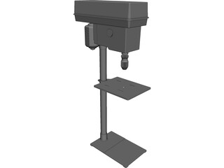 Electric Stand Drill CAD 3D Model