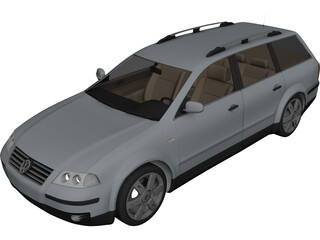 Volkswagen Passat Variant Wagon 3D Model 3D Preview