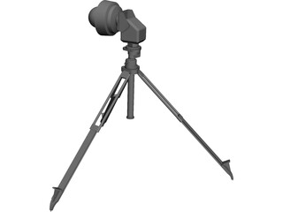 Axis PTZ Camera on Tripod CAD 3D Model