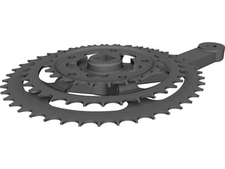 Bicycle Crank Shimano Alivio Right CAD 3D Model