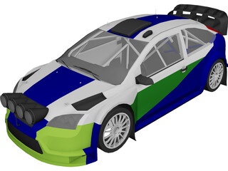 Ford Focus WRC (2006) 3D Model