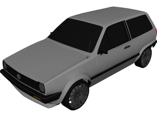 Volkswagen Polo (1986) 3D Model