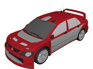 Mitsubishi Lancer WRC 3D Model 3D Preview