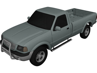 Ford Ranger Regular Cab (2001) 3D Model