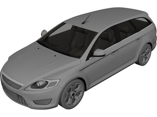 Ford Mondeo Sportbreak 3D Model 3D Preview