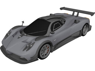 Pagani Zonda R Club Sport (2009) 3D Model 3D Preview