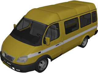 Gaz 3302 Gazel 3D Model