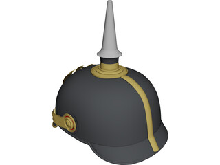 Prussian Helmet 3D Model 3D Preview