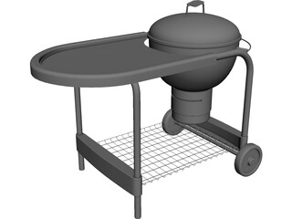 Deep Fryer BBQ Grill 3D Model
