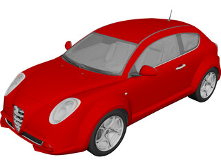Alfa Romeo Mito 3D Model 3D Preview