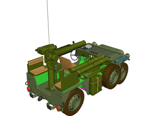 M151 A2 [+Tow Missile Launcher] 3D Model 3D Preview