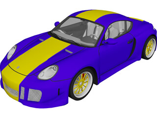 Porsche Cayman S (2006) [Tuned] 3D Model