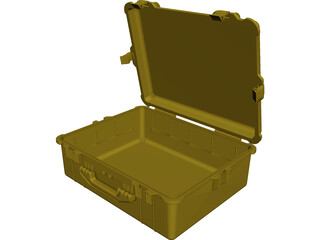 Pelican Case Model 1600 CAD 3D Model