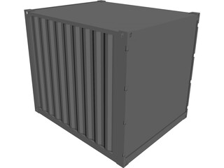 Container 10ft Shipping CAD 3D Model