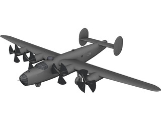 Consolidated B-24 Liberator 3D Model