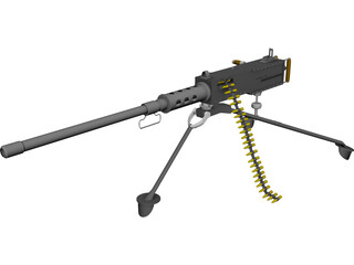 Browning 50 caliber 3D Model 3D Preview