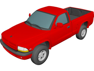 Dodge Dakota Sport Regular Cab V8 (1999) 3D Model