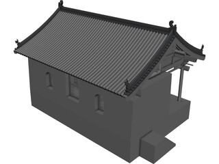 Chinese Ancient Stage 3D Model