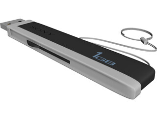 Sony Pen Drive 1Gb 3D Model