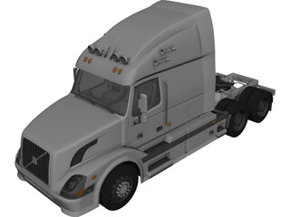 Volvo VNL-670 (2008) 3D Model 3D Preview
