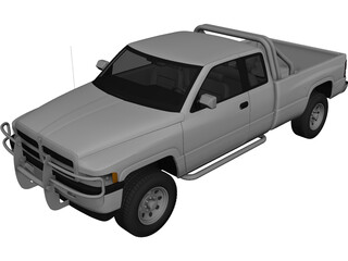 Dodge Ram Extended Cab (1996) 3D Model