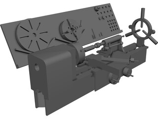 Convention Lathe 3D Model
