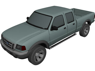Ford Ranger XLT Crew Cab (2005) 3D Model
