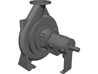 Water Pump CAD 3D Model