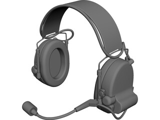 Peltor MT15H69FB-09 Com-Tac II Headset 3D Model