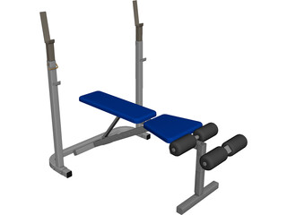 Bench Press CAD 3D Model