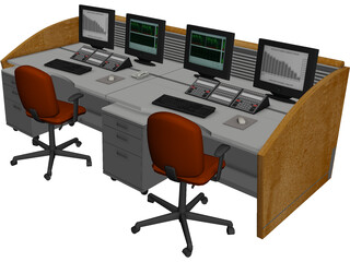 NOC Workstation 3D Model