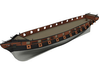 La Creole Hull 3D Model