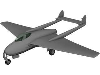 De Havilland D.H. 100 Mk.50 Vampire 3D Model