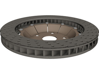 Brake Disc 350 mm 3D Model 3D Preview
