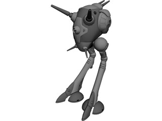 Zentraedi Battlepod 3D Model