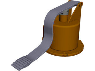 Hydro Pump CAD 3D Model