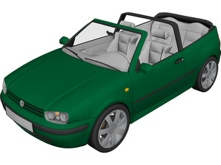 Volkswagen Golf Cabrio 3D Model