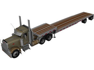 Peterbilt with Reitnouer Trailer 3D Model