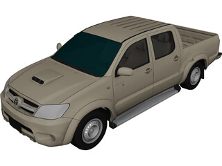 Toyota Hilux Extended Cab 3D Model 3D Preview