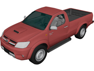 Toyota Hilux Regular Cab 3D Model