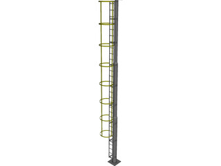 Cat Ladder CAD 3D Model