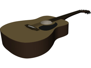 Taquamine Acoustic Guitar 3D Model