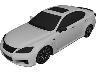 Lexus IS-F (2009) 3D Model