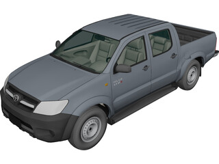 Toyota Hilux Crew Cab 2.5 STD 3D Model 3D Preview