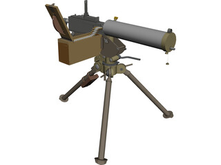 Maxim Machine Gun 3D Model