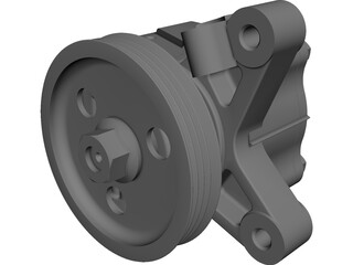 Power Steering Pump Honda Prelude H22A (1993-2001) CAD 3D Model
