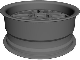 BBS LM Wheel CAD 3D Model