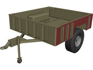 Military Trailer CAD 3D Model