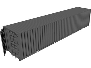 Shipping Container 40x08x08 CAD 3D Model