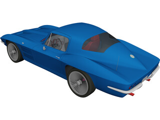 Chevrolet Corvette Stingray (1964) 3D Model